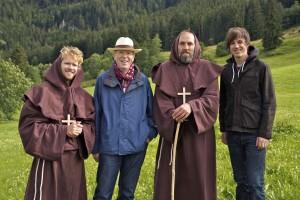 """Dreharbeiten mit Komparsen im  Allgäu für """"Im Segen der irischen Mönche"""""""