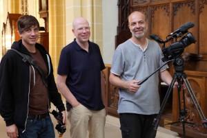 Dreh in der Stadtkirche mit Daniel Sikinger, Rainer Wälde & Andreas Lehmann